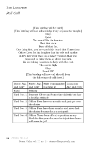 Ben Langston - Roll Call [sample-1]