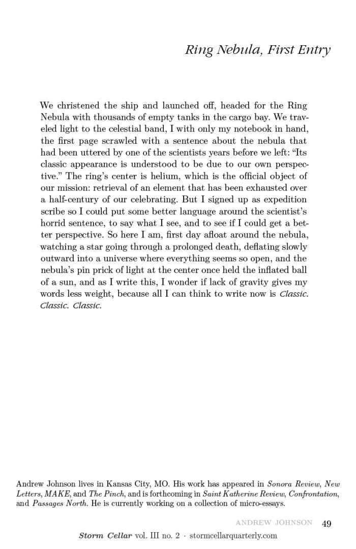 Andrew Johnson - Ring Nebula, First Entry [sample-2]