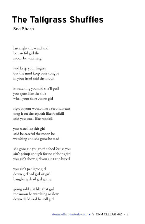 Sea Sharp - two poems[sample]