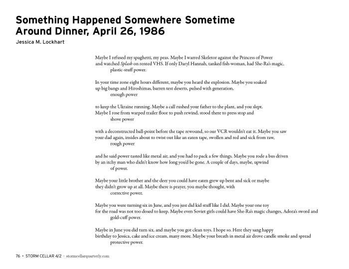 Jessica M. Lockhart - Something Happened Somewhere Sometime Around Dinner, April 26, 1986 [sample]1