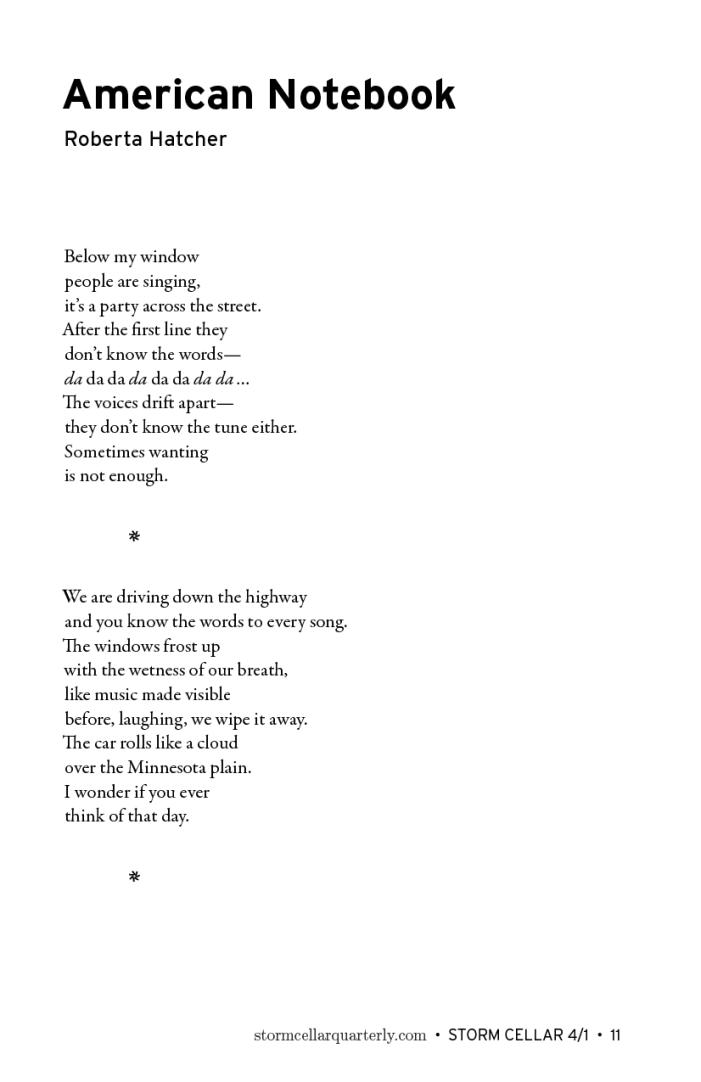 Roberta Hatcher - American Notebook [sample]
