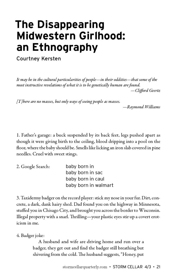 Courtney Kersten - The Disappearing Midwestern Girlhood- An Ethnography [sample]