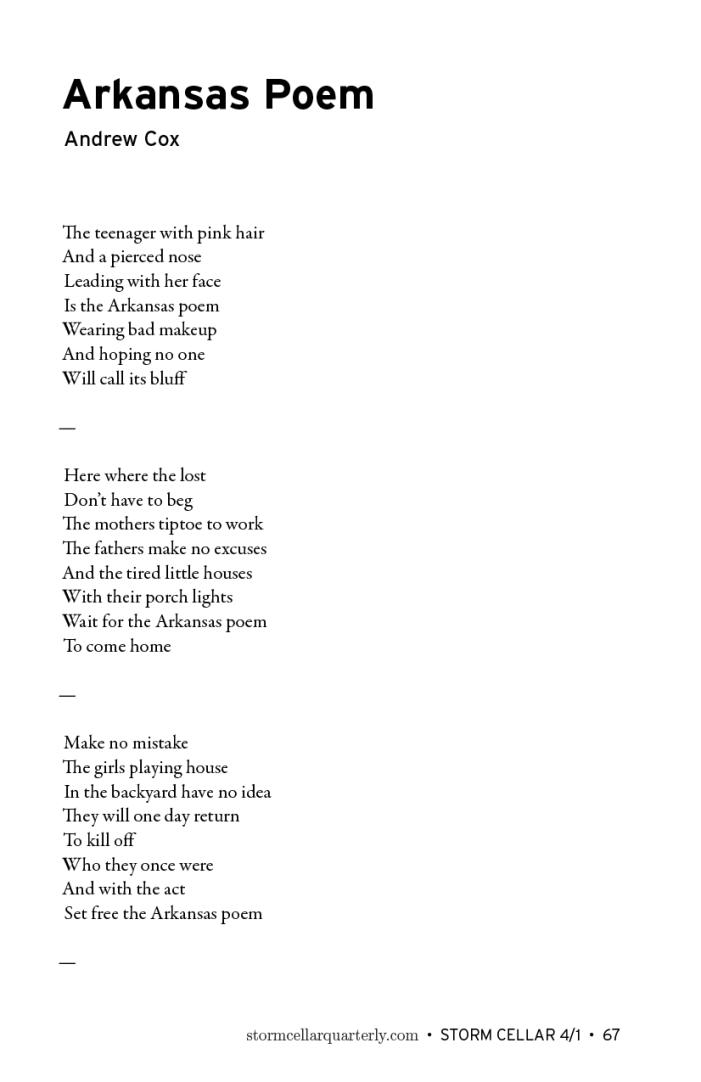 Andrew Cox - Arkansas Poem [sample]