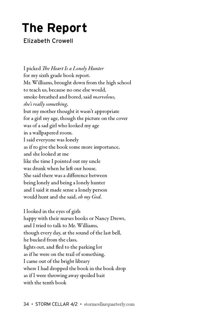 Elizabeth Crowell - two poems [sample]