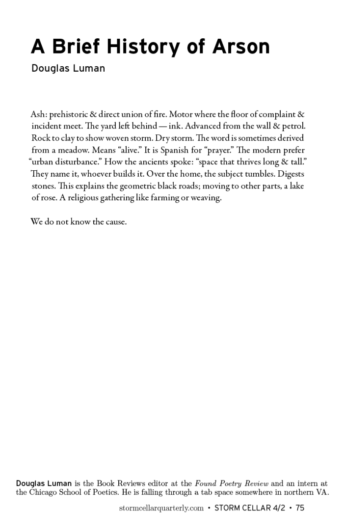 Douglas Luman - A Brief History of Arson[sample]